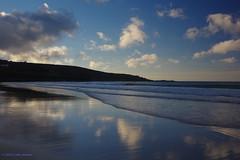 3KB09535a_C (Kernowfile) Tags: cornwall cornish stives porthmeorbeach sea water bay waves sand clouds sky bluesky reflections pentax