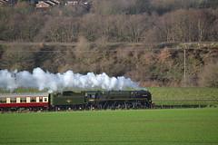 70000 Railtour (Gerry Rudman) Tags: britannia 70000 preston brook daresbury pennine moor explorer