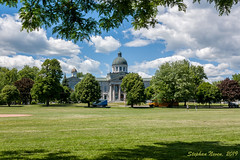 Kingston Courthouse across the cricket field     *Explored #318* (Stephan Neven) Tags: kingston frontenac courthouse canada cricket baseball field park ontario neoclassical naturalframing landscape canon city cityscape justice court