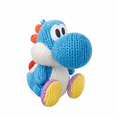 Adorable Light Blue Yarn Yoshi Amiibo (mywowstuff) Tags: gifts gadgets cool family friends funny shopping men women kids home