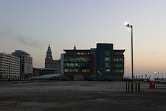 Liverpool, England (Towner Images) Tags: princesdock liverpool merseyside rivermersey liverbuilding towner townerimages huawei dusk dusklight light photo photographic flickr