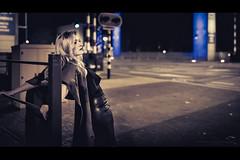 Film Noir XXXI (Passie13(Ines van Megen-Thijssen)) Tags: kiki filmnoir weert netherlands night nightscape woman canon sigma35mmart portrait portret cinematic inesvanmegen inesvanmegenthijssen