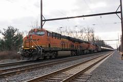Edgewood Road (Dan A. Davis) Tags: csx bnsf ge gevo es44dc ac44c4m es44c4 k141 freighttrain locomotive railroad pa pennsylvania yardley