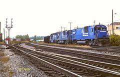 CR 6777                        9-78 (C E Turley) Tags: trains railroads railway conrail cr alco c630 sd452