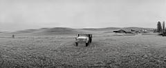 Truck for Sale, Eastern Washington (austin granger) Tags: truck easternwashington palouse winter space phonenumber sign farm crop rural field fallow frost film noblex