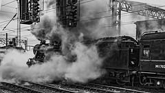 Stanier 8F 48151 pulling out of Carlisle (Bobchofos) Tags: steam railways station tracks engine locomotive carlisle cumbria shap settle train special carriage stanier 8f 48151