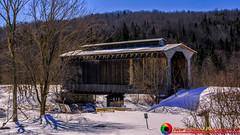The Fisher Covered Railroad Bridge in Wolcott, Vermont (The Origional New England Photography) Tags: coveredbridge fishercoveredrailroadbridge newenglandphotography vermont vermontcoveredbridge vermontlandscape winter