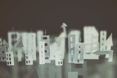 cartoon world (CatMacBride) Tags: paper papercraft city cartoon buildings office