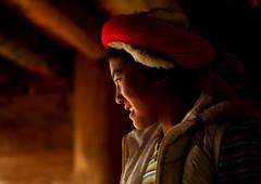 Tibetan Woman, Zhongdian , Yunnan Province, China (Eric Lafforgue) Tags: a8031 asia china colorpicture horizontal onepeople oneperson onewomanonly realpeople shangrila tibet tibetan tibetanculture traditionaldress yunnan zhongdian