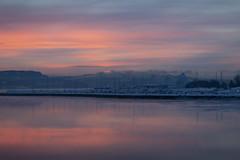 Seaside in Stjørdal, Norway (Trond Sollihaug) Tags: stjørdal trøndelag trondelag norway sunset trondheimsfjord fjord sea seaside harbour winter cold