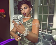 ♬♪♫ Strumming My Pain With His Fingers ♬♪♫ (♫♥Kitten Sinclair♥♪) Tags: sl slsaintssinners slphotography secondlife secondlifephotography sexygirls jazz sing microphone club singer laurynhill fugees killingmesoftly catwa ma nomatch