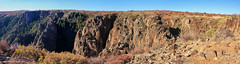 Tomichi Point Overlook, Black Canyon of the Gunnison National Park, Montrose, Colorado, USA (Black Diamond Images) Tags: blackcanyonofthegunnisonnationalpark montrose colorado usa blackcanyon gunnisonnationalpark coloradolandscapes blackcanyonnationalpark blackcanyonofthegunnison landscapes westernusatrip2018 2018 panorama msice msicepanorama microsofticepanorama nationalparkservice precipice cliffs pegmatite precambriangneiss schistrock precambrian gneiss schist rock canond60 sigma1770 1770 tomichipointoverlook tomichipoint southrimroad southrimrd hwy347