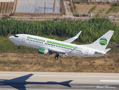 Germania 737-700 D-AGEP (birrlad) Tags: rhodes rho international airport greece aircraft aviation airplane airplanes airline airliner airlines airways germania boeing b737 737700 73775b dagep runway departing departure rotate climbing takeoff
