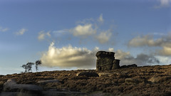 Stand off (Malajusted1) Tags: mothers cap hathersage peak district nationalpark gritstone trees rocks clouds england heather sunset dusk travel autumn fall formation natural overowler higgertor tor mountain fell