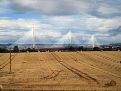 New Forth Bridge Supports (saxonfenken) Tags: 5011bridge 5011 bridge triangles supports fields bales scotland forthbridge tcf storybook friendlychallenges gamewinner challengeyouwinner