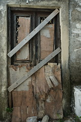 None Shall Pass (steve_whitmarsh) Tags: greece skiathos skiathostown building architecture door abandoned derelict ruins topic