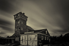 Old Maritime Structure (Thomas Kloc) Tags: newjersey sandyhook abandoned monochrome old weathered longexposure