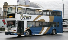 Tyrers Coaches, Adlington CHO213Y with a Rail Replacement service at Manchester Victoria (Gobbiner) Tags: olympian tyrerscoaches manchester cho213y pyoneer adlington 463 nottinghamcitytransport eastlancs s463atv volvo railreplacement