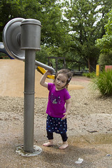 sad? (louisa_catlover) Tags: portrait family child toddler daughter tabitha tabby park playground outdoor water wet