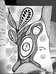 (Monic LaRochelle) Tags: within art personnel gribouillis blackandwhite noiretblanc dessin doodle