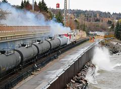 Storage Move (Missabe Road) Tags: nssr lsrm soo 700 dmir 193 storagetrain tankcars lakewalk gp30 sd18 caboose1