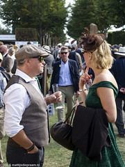 2018 Goodwood Revival: Couple (8w6thgear) Tags: 2018 goodwood revival couple man woman perioddress champagne paddock