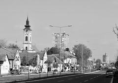 Vojvodjanska (emina.knezevic) Tags: nikond3200 nikonphotographer newbelgrade novibeograd beograd capitaloftheworld bwphotography streetphotography lensonthestreets blackandwhite streets capitalcity
