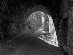 A Slice of Light (Jason_Hood) Tags: blackandwhite monochrome bridge harbornerailway harbornewalkway