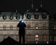 Cyborg (CoolMcFlash) Tags: person silhouette night belvedere palace vienna street streetphotography building fujifilm xt2 candid kontur nacht schlos architecture architektur wien gebäude fotografie photography xf100400mmf4556 r lm ois wr fotografieren photographer fotograf