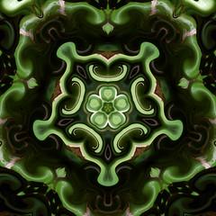 715 (MichaelTimmons) Tags: digitalart art artwork abstract green kaleidoscope pentagon digitalpainting stpatricksday