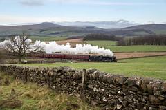 48151 at Clapham Moor, North Yorkshire, 16/12/18 (John / Arc-Images) Tags: santa special bentham line lancaster hellifield carnforth settle 8f lawsings clapham 48151 eldroth steam train ingleborough