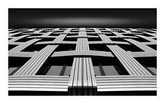 Lattice (TS446Photo) Tags: nikon nikkor europe building architecture fineart abstract lookup blackandwhite black white blackwhite monochrome mono weave facade
