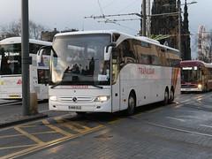 Humphries of Thatcham, Coach Miles, Mercedes Benz Tourismo HN16ELS, in Trafalgar Tours livery, at Princes Street, Edinburgh, on 20 December 2018. (Robin Dickson 1) Tags: coachmiles busesedinburgh humphriesofthatcham mercedesbenztourismo hn16els trafalgartours
