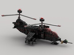 n35 Eagle Homing Gunship (Homing-Misslies) (demitriusgaouette9991) Tags: lego ldd military army armored powerful vtol aircraft gunship future flying helicopter transport whitebackground wings deadly destroyer sky