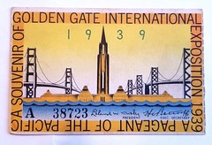 1939 GG Inernational Expo pass (thamiter) Tags: 1939 exposition
