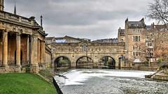 The River Avon & Pulteney Bridge, Bath (Baz Richardson) Tags: somerset bath pulteneybridgebath riveravonbath pulteneyweirbath rivers weirs bridges georgianarchitecture