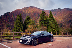 Perfect match (KaeriRin) Tags: japan autumn gifu prefecture touristicspot tourism travel mountains sony alpha sony7m2 7mii 28mm 28mm20 sel2820 leaves sky subaru toyota 86 brz car sportscar japanese