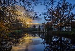 Scotney castle (Chris D Page) Tags: scotney castle kent national trust sunset dusk reflectiion water sky