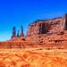 Three Sisters, Monument Valley, Arizona.