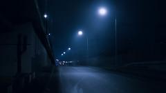 Entry on the highway.. (igor.relsov) Tags: street night highway lamp fog light