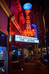 Blue Moon Lounge - Fine Food & Cocktails Vintage Neon Sign - In color (coljacksg) Tags: vintage neon sign blue moon lounge mcminnville oregon retro midcentury