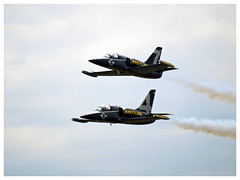 Breitling Jet Team 2017 (Aerofossile2012) Tags: breitling breitlingjetteam dijon longvic ba102 meeting airshow aerovodochody avion aircraft aviation patrouille meetingdefrance 2017 albatros l39 2 deux two
