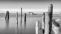Venetian Fishing Hut (Andy J Newman) Tags: longexposure hut vulturelabs silverefex monochrome fishing italy venice blackandwhite d810 nikon sea