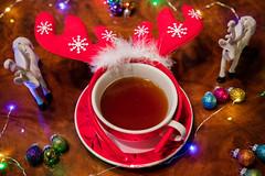 Christmas tea (priolo_vittoria) Tags: tea drink cup christmasballs christmas glitter lights reindeer circlet christmasdecoration mug stilllife table decoration beverage holiday composition bokeh tè renne natalizio palline fairylights luci cerchietto tazza decorazione hot caldo natale