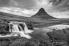 Kirkjufell (photojen10) Tags: iceland kirkjufell snæfellsnes landscape mountain peninsula sonya9 sky grass rock water river