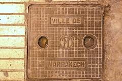 Ville de Marrakech (So Cal Metro) Tags: manhole utility cover vault morocco maroc marrakech villedemarrakech
