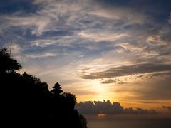 Uluwatu Temple Sunset (neelabh75) Tags: sunset uluwatu temple hanuman clouds sky bali indonesia lumix panasonic g85