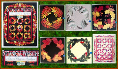 Botanical Wreaths (M.P.N.texan) Tags: book quilt quilting applique botanical handwork needlework collage