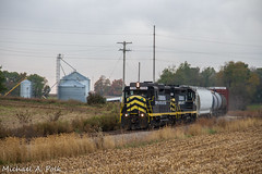 IN 2230 @ Jonesville, MI (Michael Polk) Tags: indiana northeastern emd gp30 railroad freight train 2230 michigan hillsdale jonesville