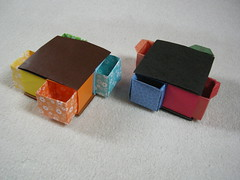 Secret drawer box (Mélisande*) Tags: mélisande origami box paperkawai